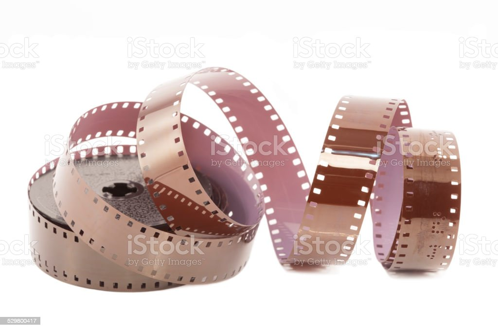 Microfilm strip stock photo