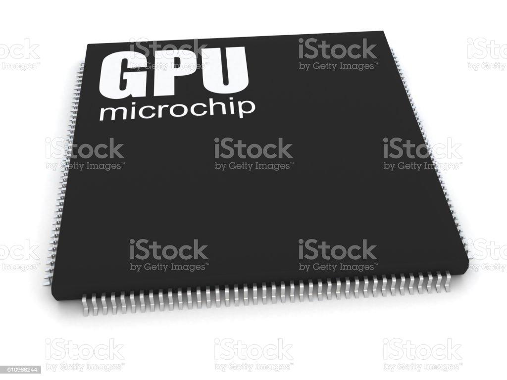 GPU Microhip stock photo