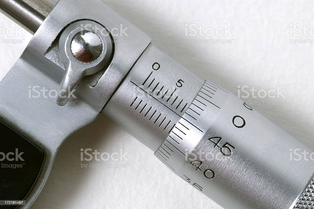 micrometer detail stock photo