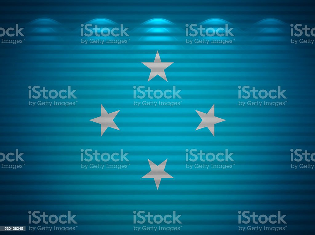 Micronesia flag wall, abstract background stock photo