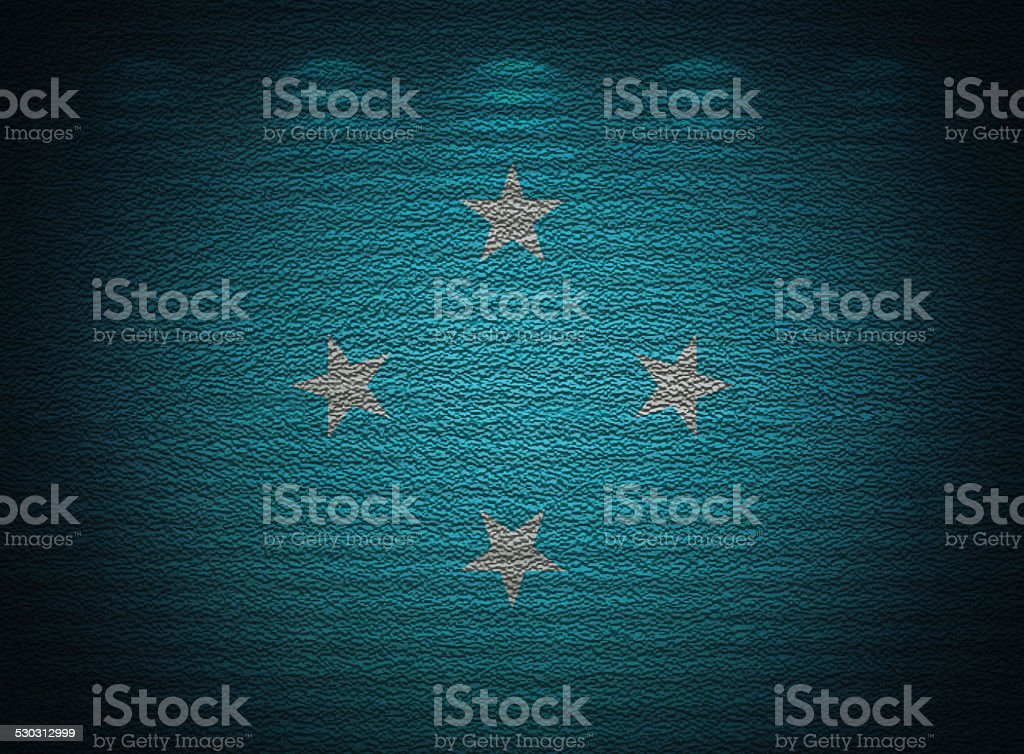 Micronesia flag wall, abstract grunge background stock photo