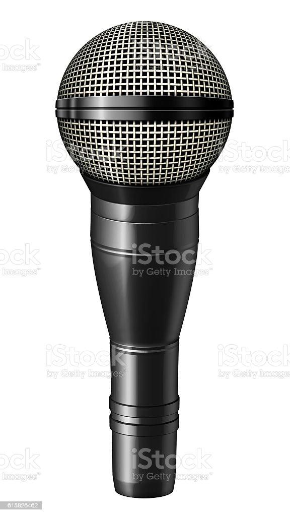 Microphone – 3D illustration stock photo