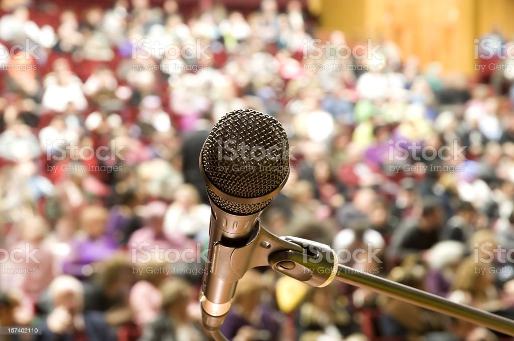 Microphone and Audience royalty-free stock photo