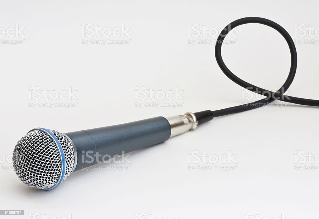 Microphone and cable royalty-free stock photo