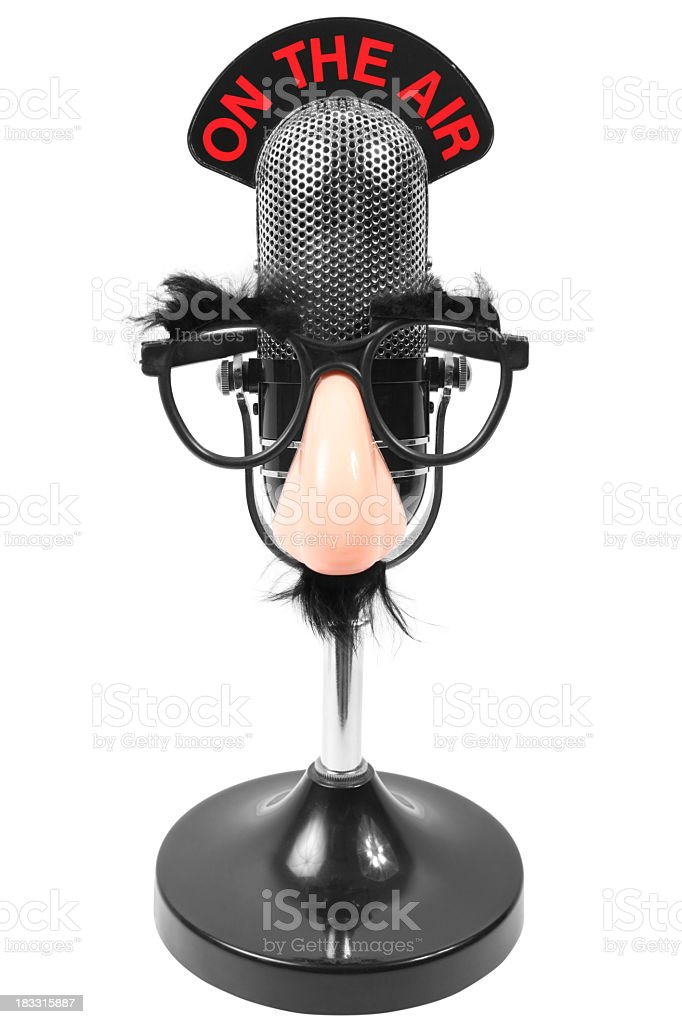 Microphone And Funny Gasses stock photo