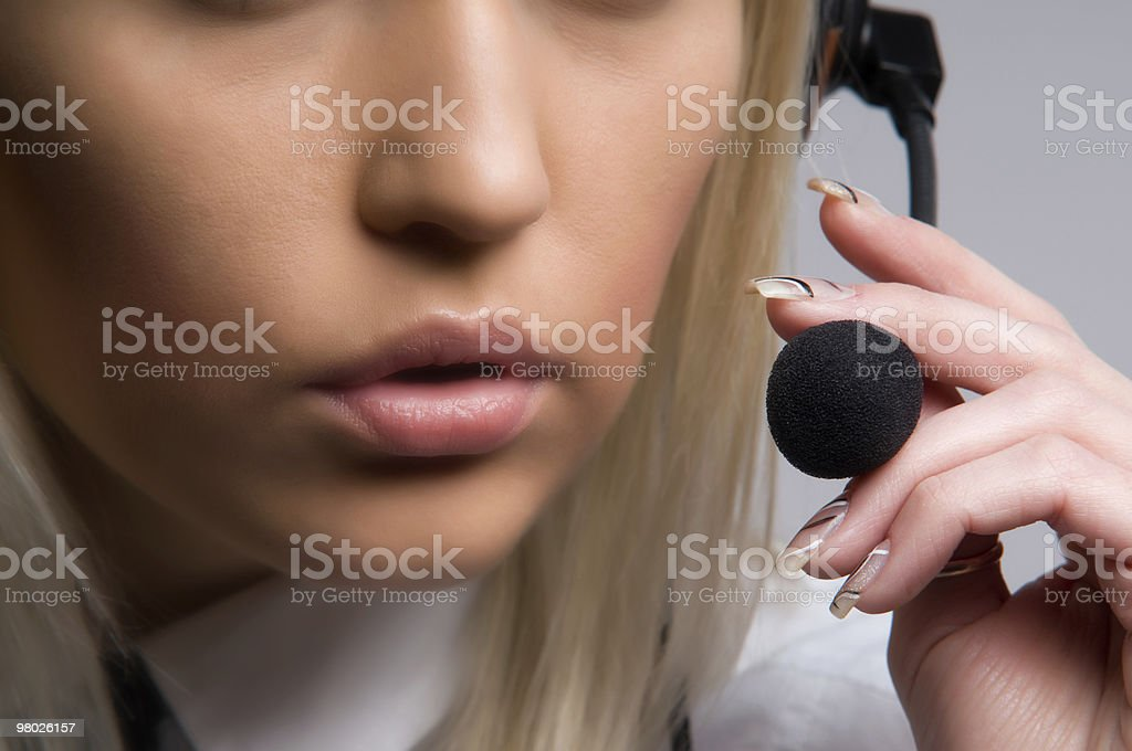 Microphone and mouth stock photo