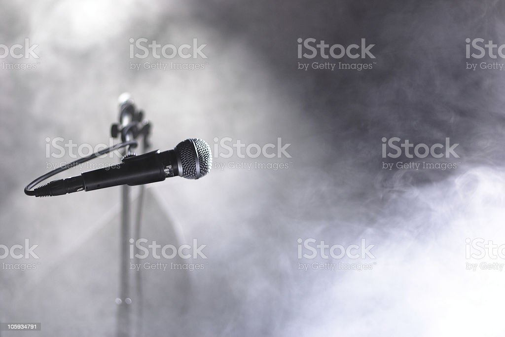Microphone and smoke royalty-free stock photo