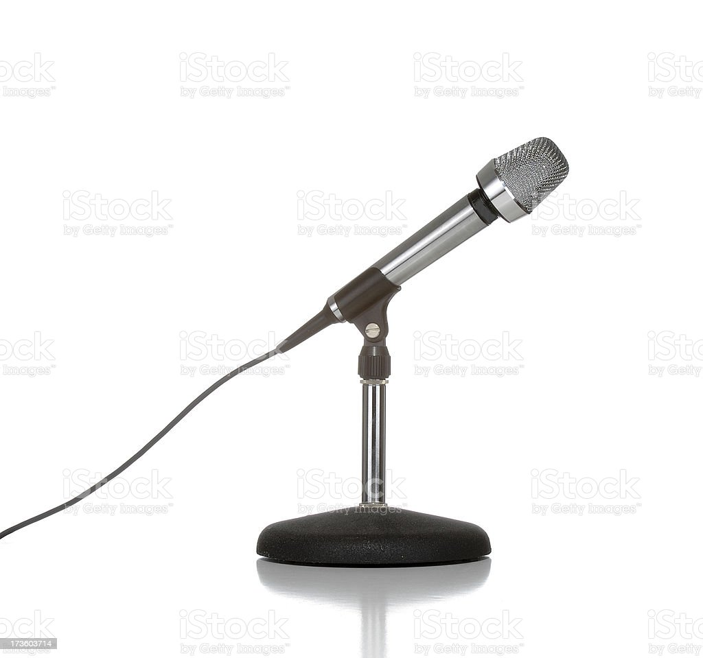 Microphone and stand stock photo