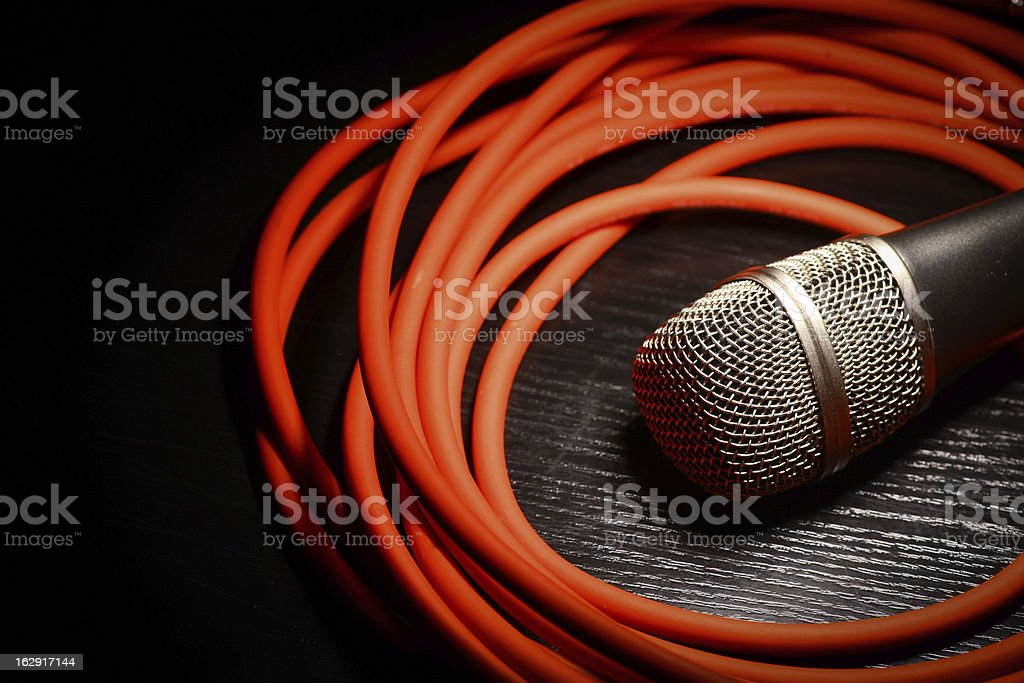 Microphone and whire royalty-free stock photo