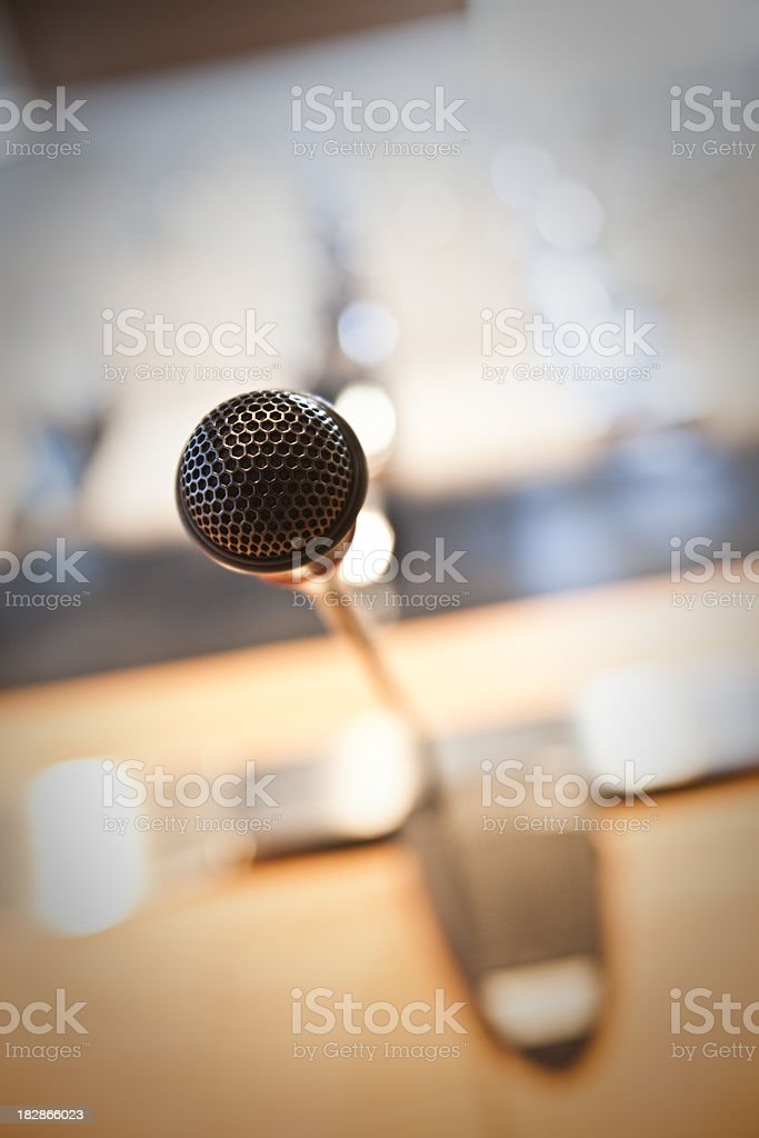 microphone, before A Conference royalty-free stock photo