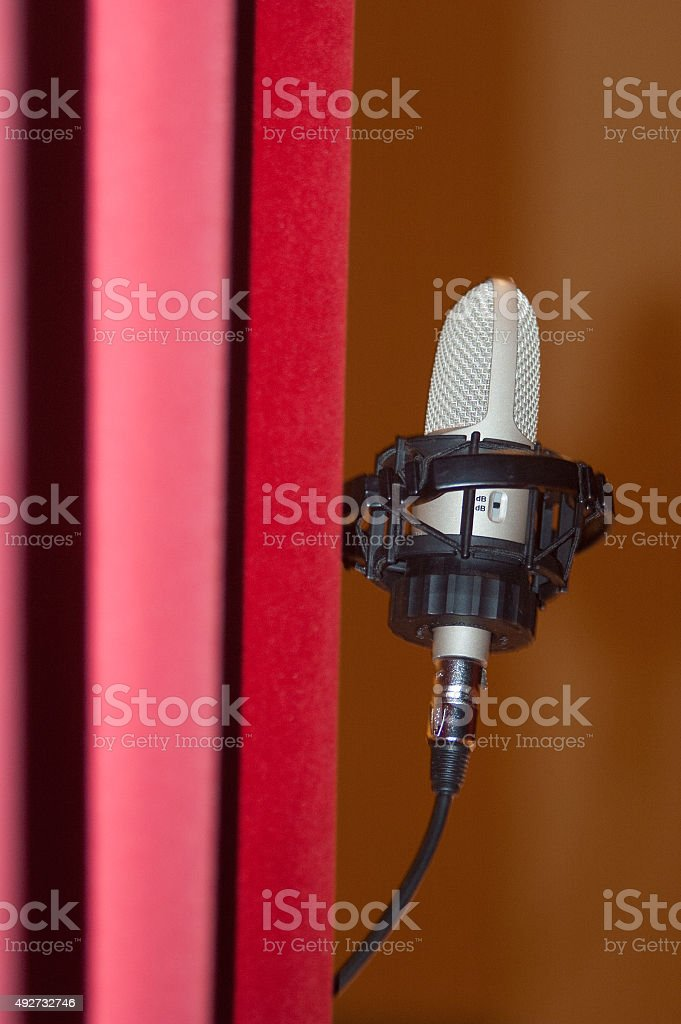 Microphone before concert royalty-free stock photo