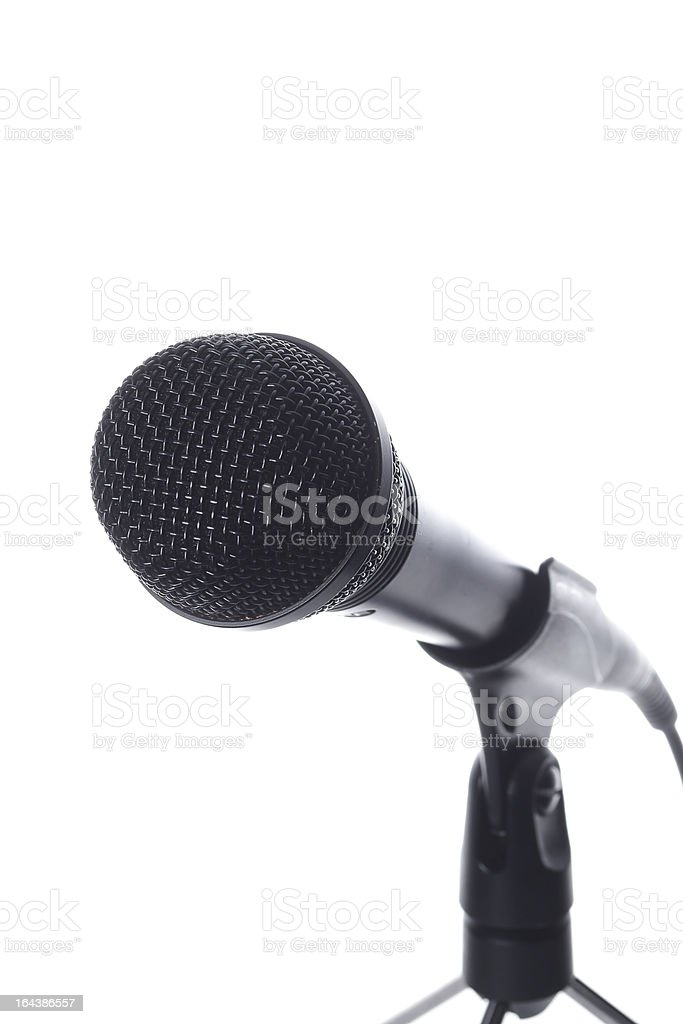 microphone close up royalty-free stock photo