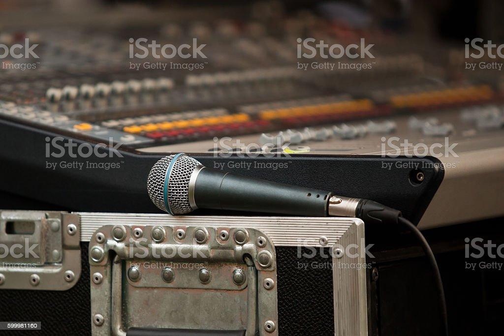 Microphone closeup stock photo