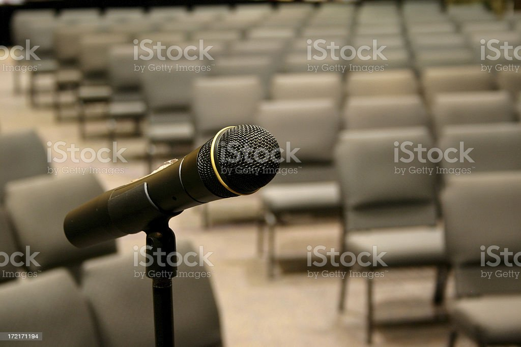 Microphone, Empty Seats royalty-free stock photo