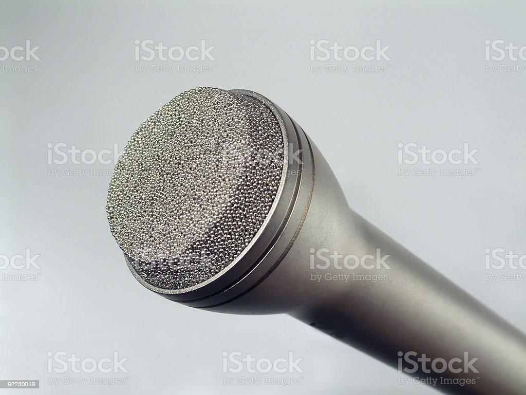 Microphone for radio stock photo