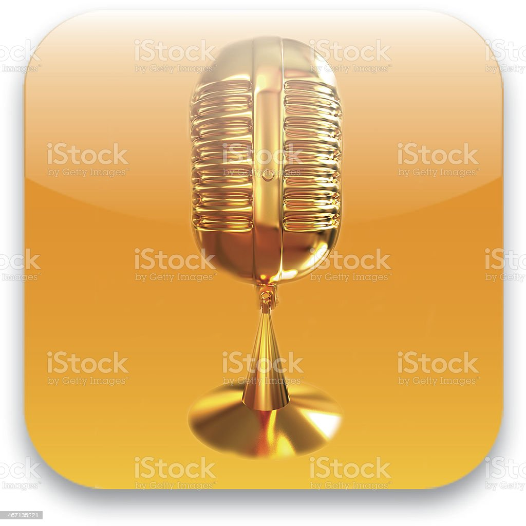 Microphone icon stock photo