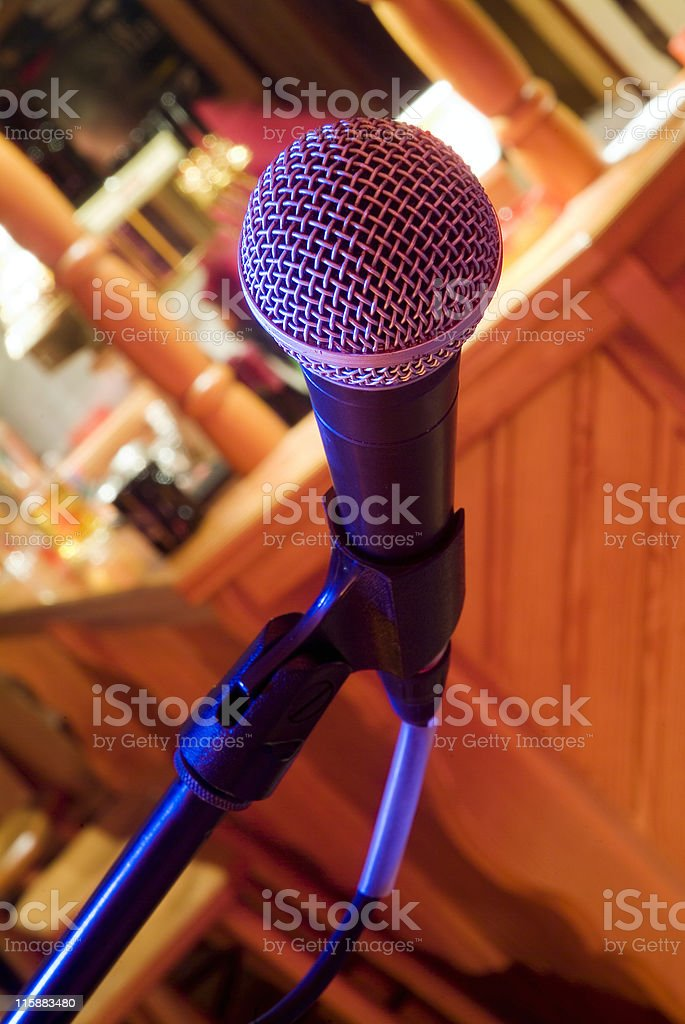 Microphone in a venue royalty-free stock photo