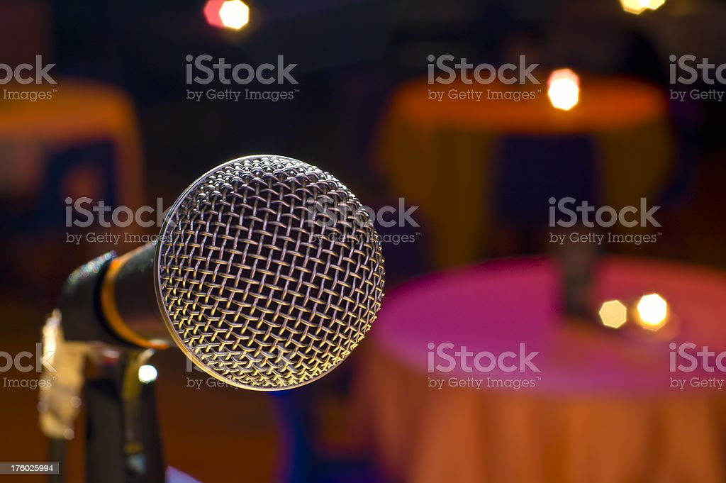Microphone in Club royalty-free stock photo