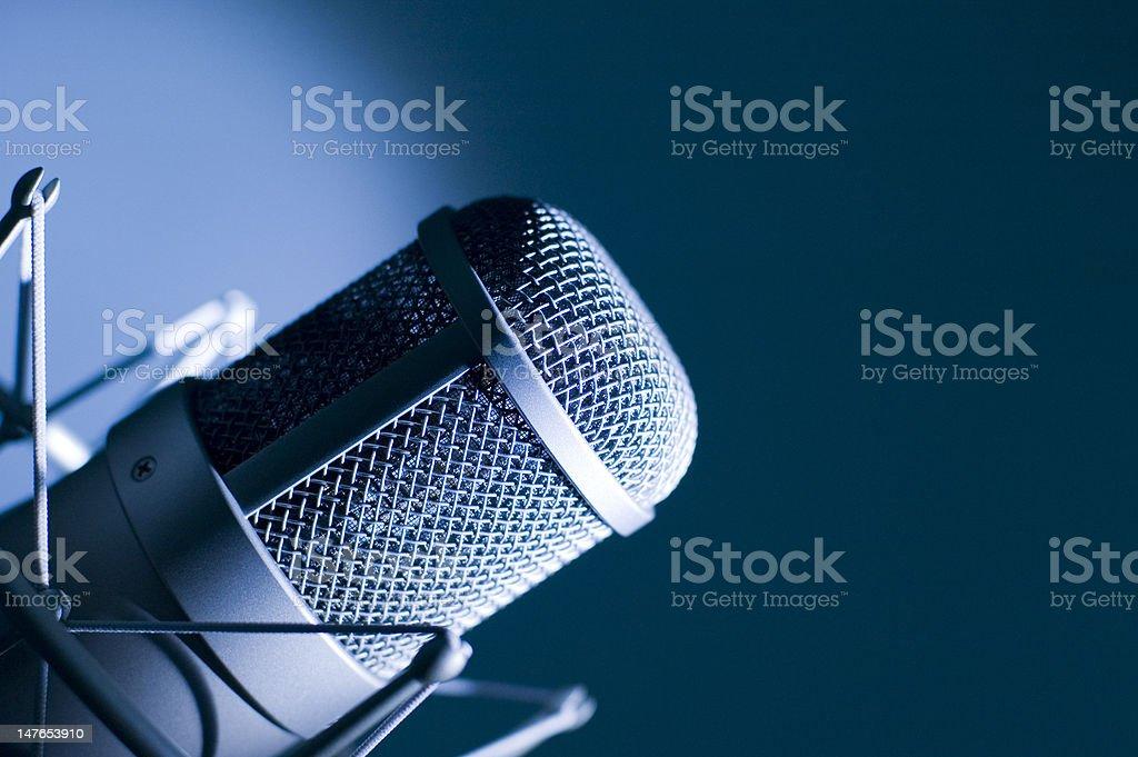 Microphone in studio. royalty-free stock photo