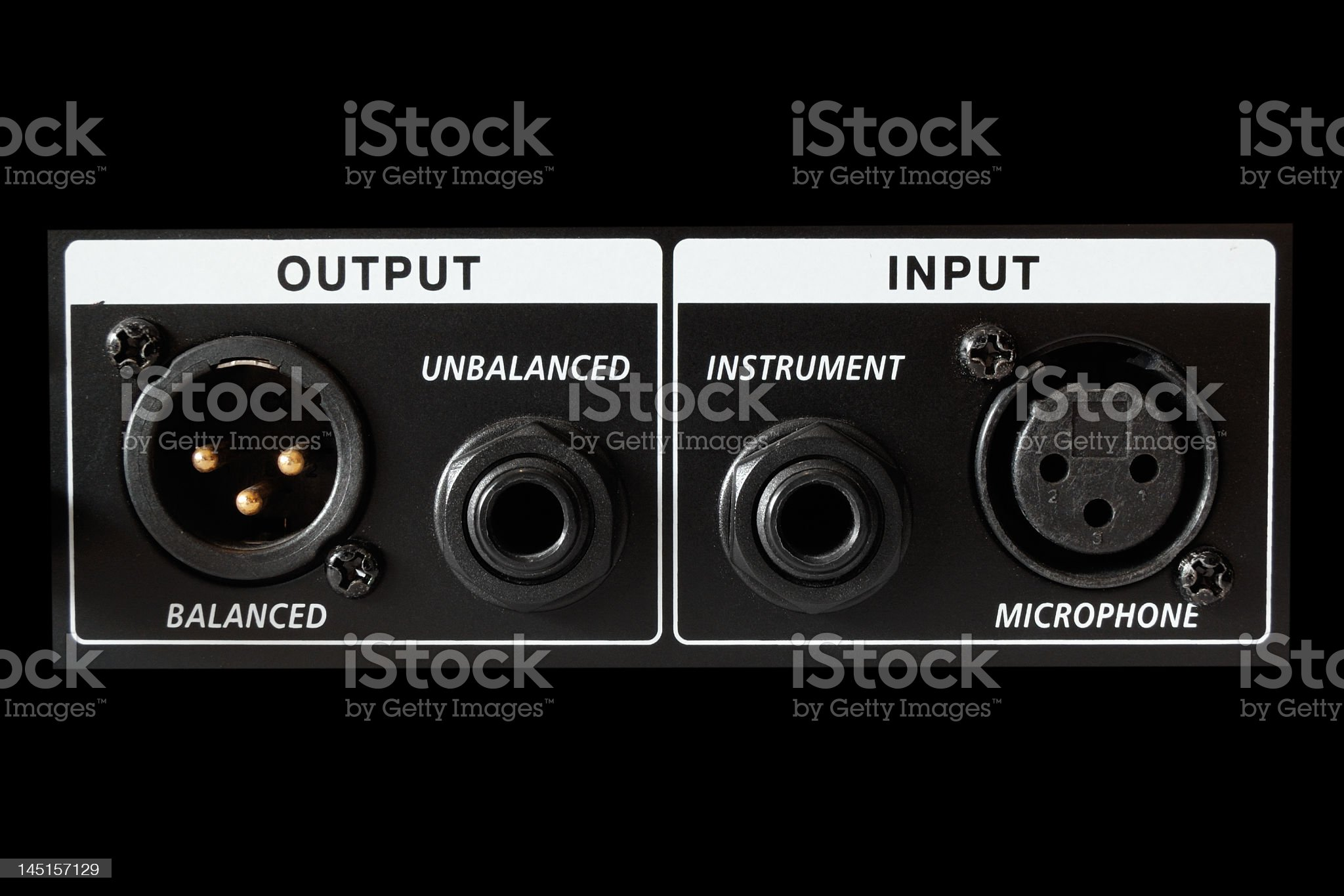 microphone interface royalty-free stock photo