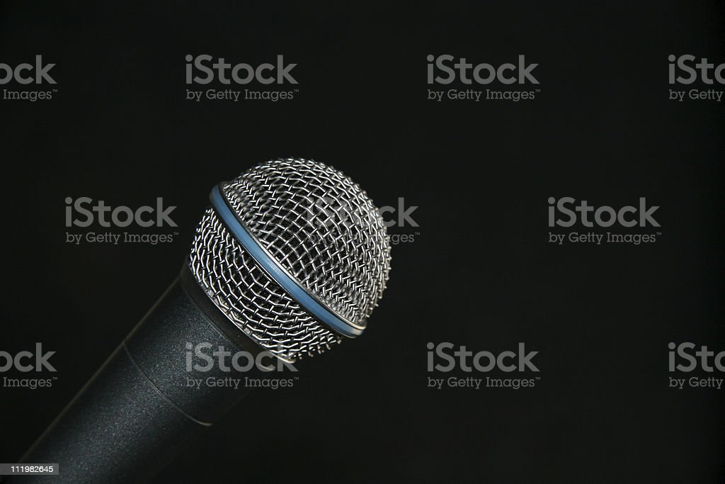Microphone Isolated On Black royalty-free stock photo