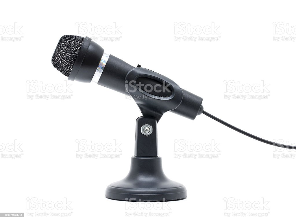 Microphone isolated on white background royalty-free stock photo
