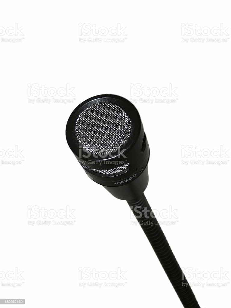 Microphone, Isolated on White royalty-free stock photo