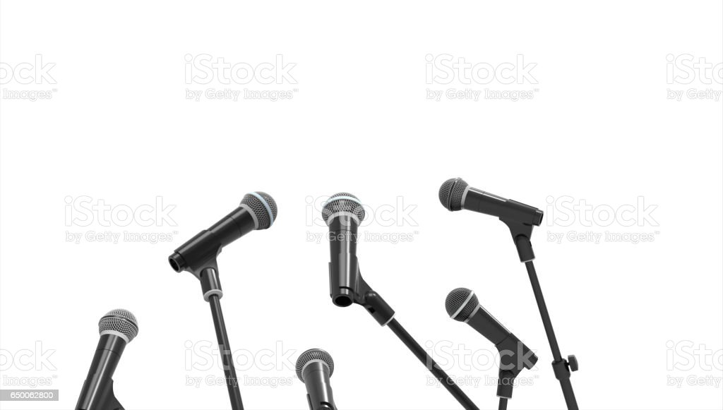 Microphone Isolated random and Communication stock photo