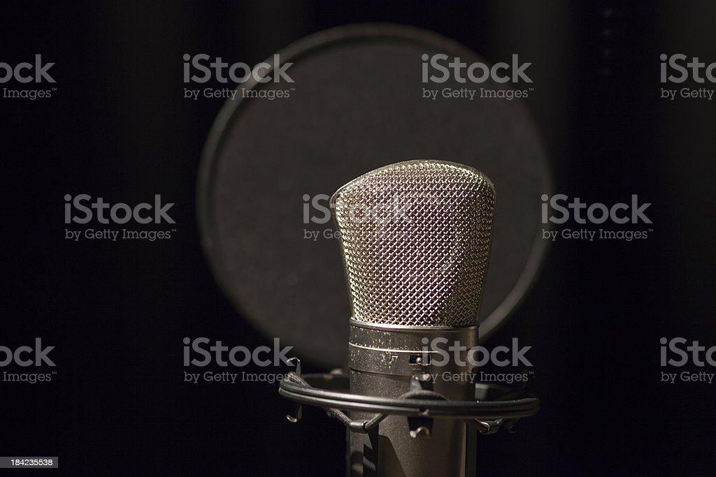 Microphone of Studio royalty-free stock photo