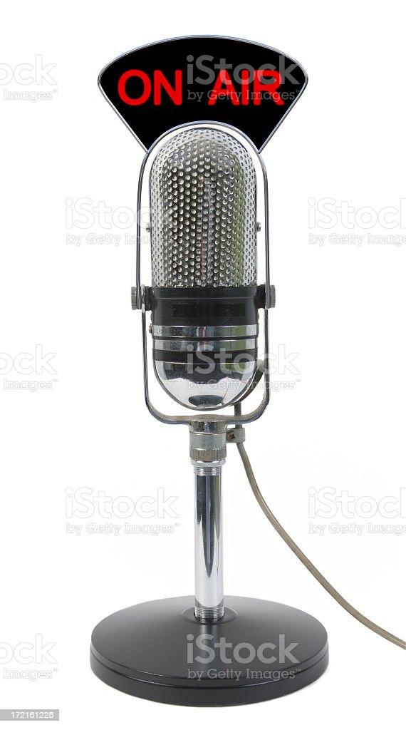 Microphone On air royalty-free stock photo