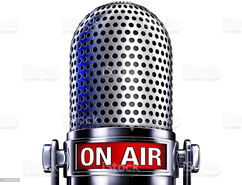 microphone on air stock photo