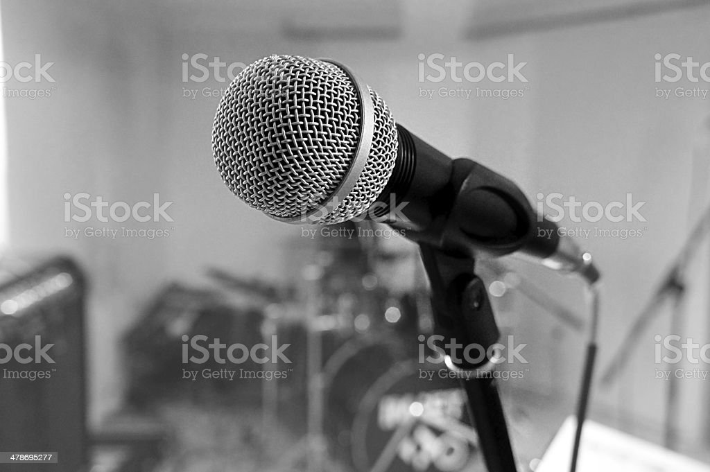 Microphone on set stock photo