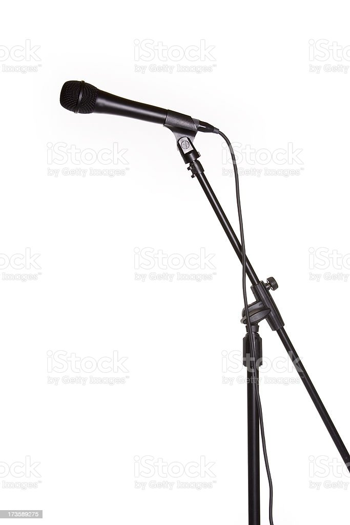 Microphone on Stand stock photo
