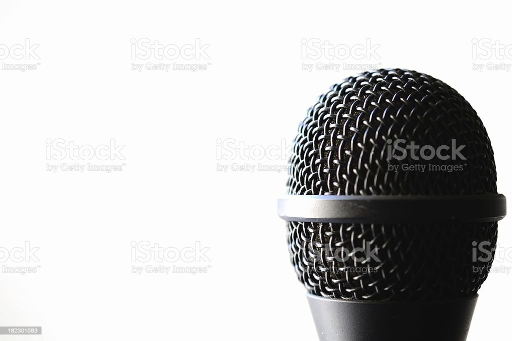 Microphone on white background royalty-free stock photo