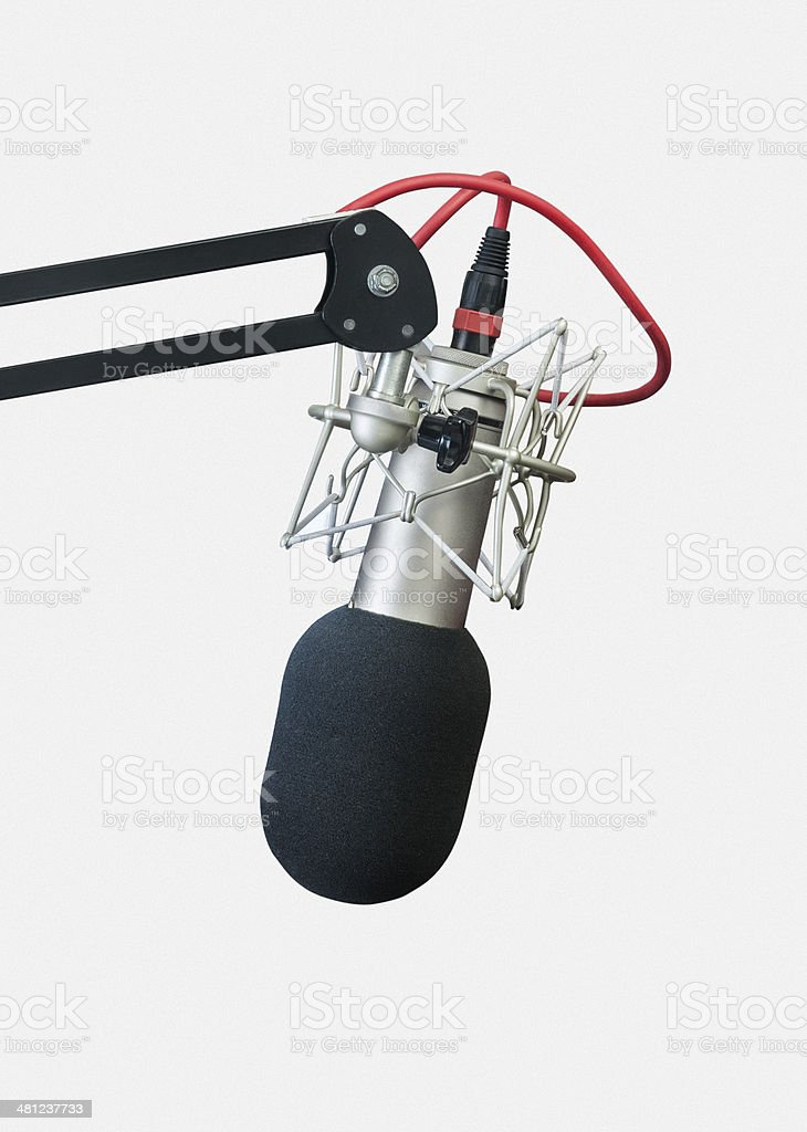 Microphone on White Background stock photo