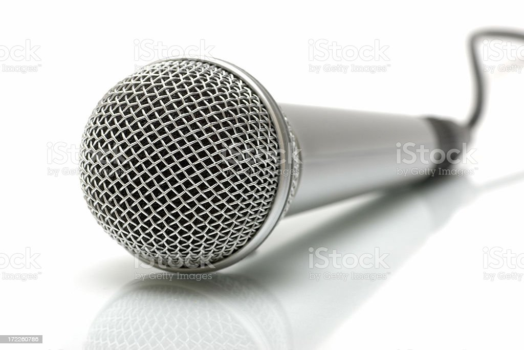 Microphone on white royalty-free stock photo