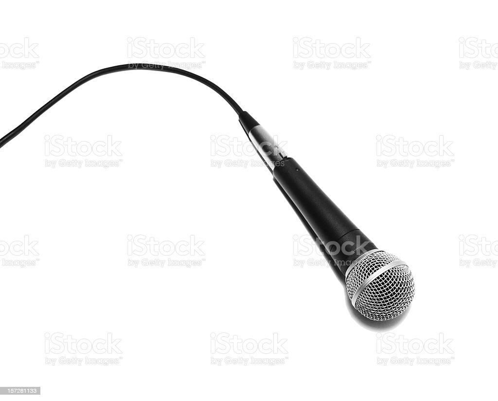 Microphone on White Table royalty-free stock photo