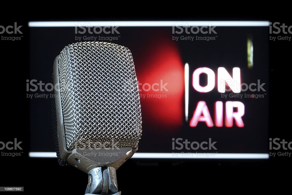 Microphone On-Air stock photo