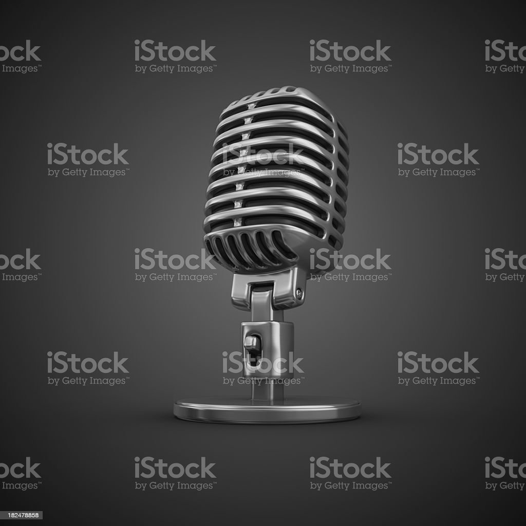 microphone royalty-free stock photo