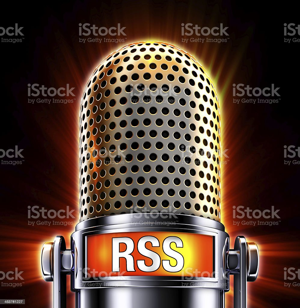 RSS microphone stock photo