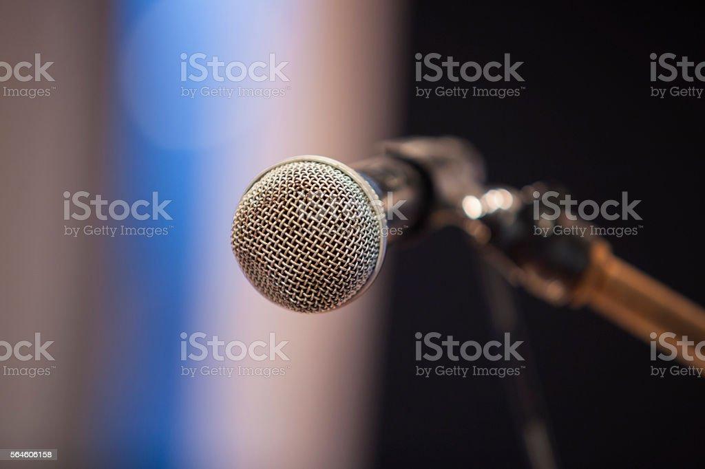 Micrófono  foto de stock libre de derechos