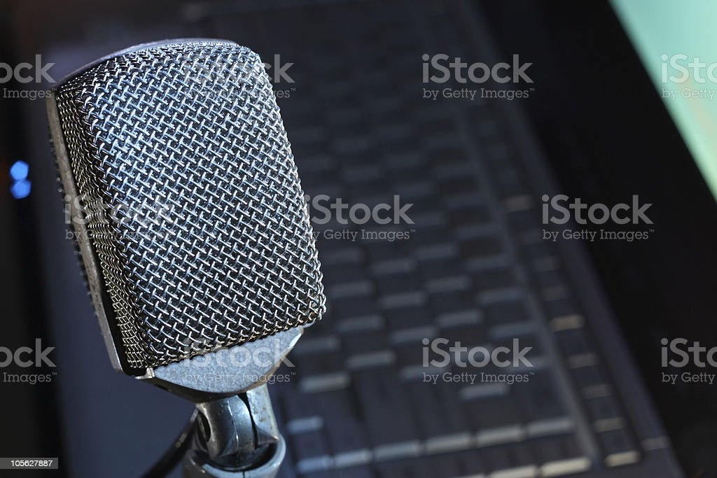 Microphone Podcast stock photo