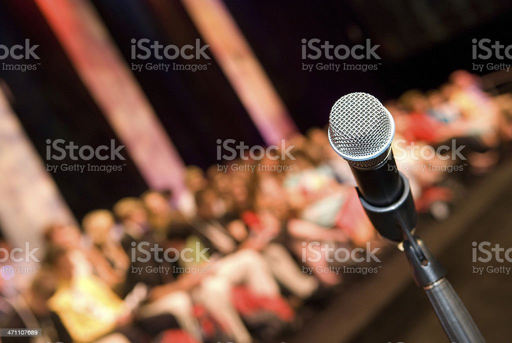 Microphone - Public Speaking royalty-free stock photo