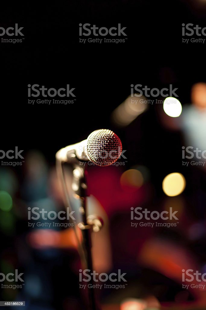 Microphone Shallow Depth Of Field stock photo