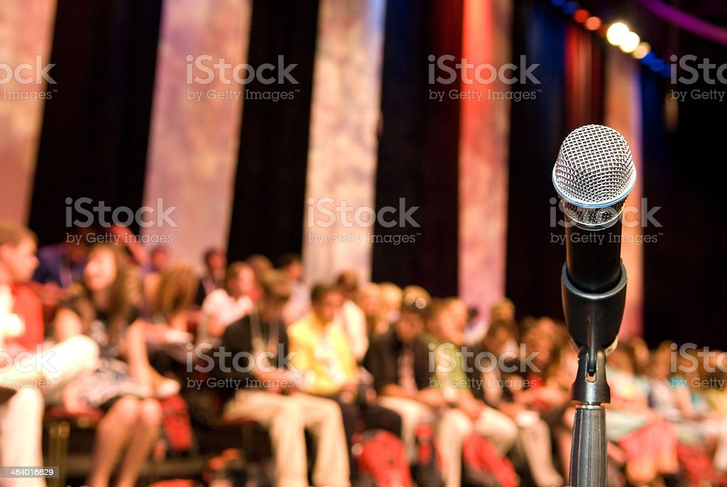 Microphone - The Big Presentation royalty-free stock photo
