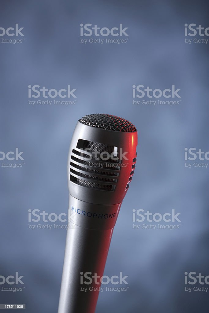 microphone vertical royalty-free stock photo