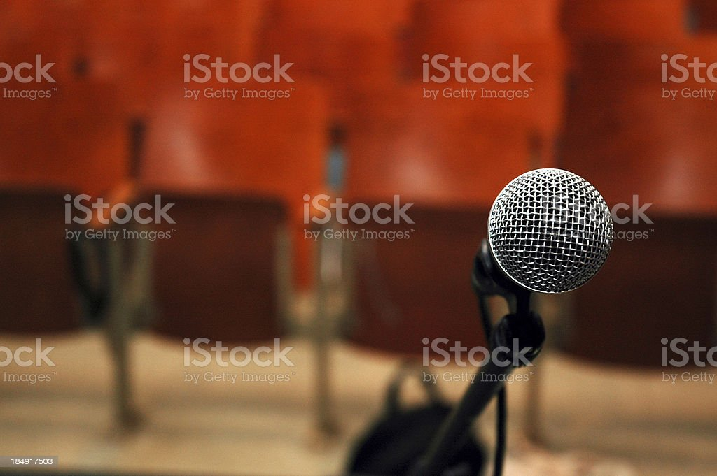 Microphone - Will They Listen? royalty-free stock photo