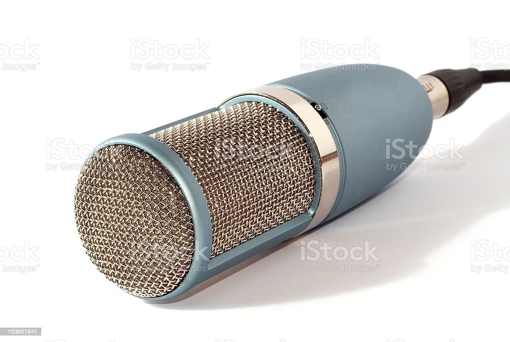 microphone with a large grid stock photo