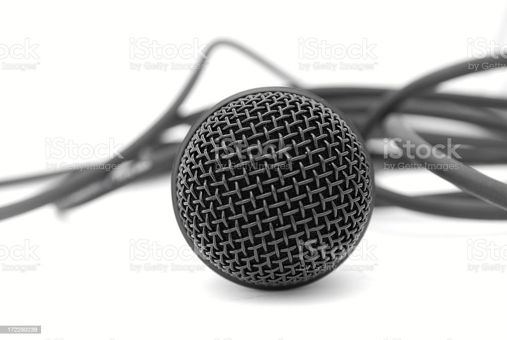 Microphone with cable royalty-free stock photo