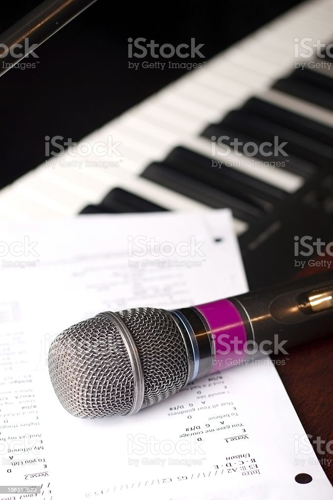 Microphone with Music royalty-free stock photo